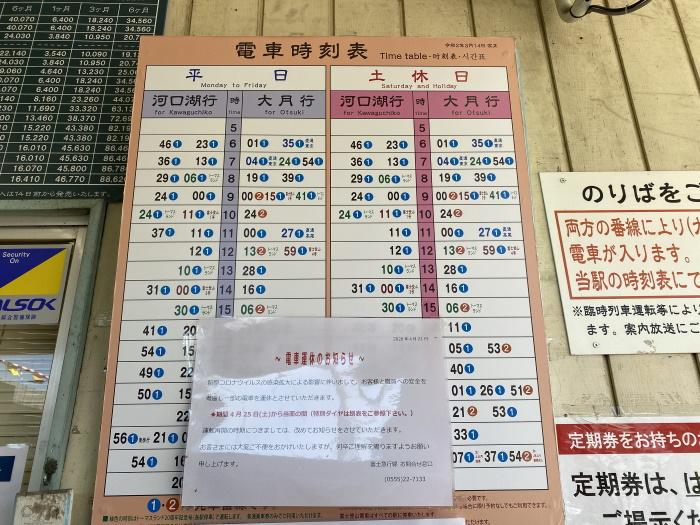 禾生駅時刻表