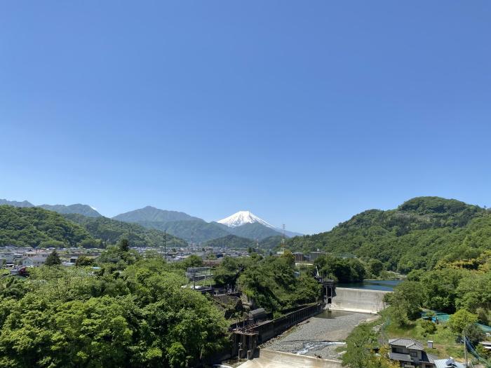 禾生駅登山道から見る富士山
