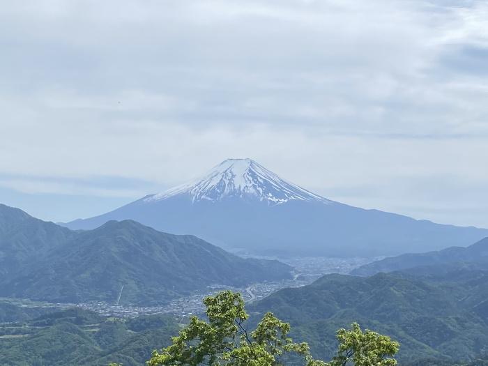 高川山の山頂からみた富士山