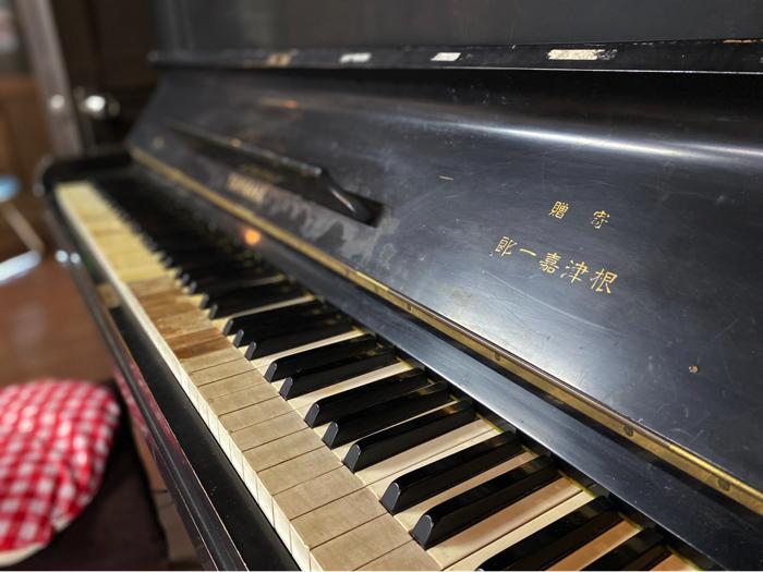 尾形郷土資料館のピアノ